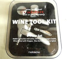 Metrokane Rabbit Corkscrew Set 5 Pieces New in Box