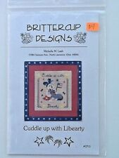 Buttercup Designs Cuddle Up With Libearty Chart  Michelle Lash CP15 Cross Stitch