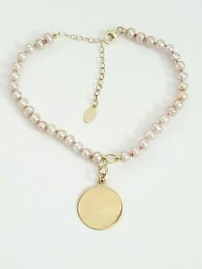 14K YELLOW GOLD PEARL Dog/ Cat/ PET Necklace. PURPLE PEARL Pet Collar