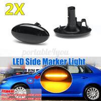 Pair LED Side Light Turn Signal Marker Smoked For Impreza Wrx Sti Forester 08-19
