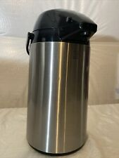 Allgo Airport Coffee Dispenser with Pump Insulated Stainless Steel 2.5 Liter