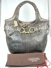 Limited Edition Coach Brown Chocolate Large Python design Tote Handbag