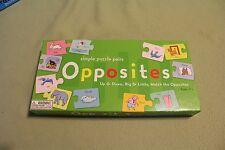 Opposites Simple Puzzle Pairs game by eeBoo Corporation USED educational