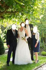 Wunderschönes Brautkleid Schnürung 38 40 42 44 in ivory Neckholder & Schleppe