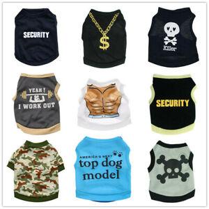 9 PCS Lot for Boy Dog Shirt Male Pet Clothes Cat Puppy Vest Clothing XS S M L