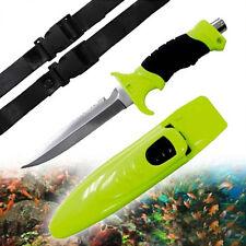 Tauchermesser Signalfarbe neon Beinholster Taucher Messer Anglermesser Survival