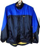 Starter Mens Windbreaker Jacket Sz Large Full Zip Mesh Lined Vented 2 Tones Blue