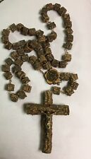 "NS De FATIMA ROSARY LARGE WOODEN BEADS 89"" TOTAL LENGTH  #20291"