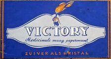 Original Art/Hand-Painted Lozenge/Candy Label: Victory Medicinale Maag Pepermunt