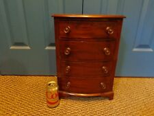 Antique 19th.c Federal Style Cherry & Walnut Veneered Miniature Bow Front Chest