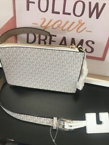 Michael Kors Pull Chain Belt Bag Vanilla Acorn Size Small