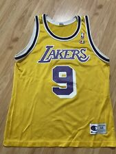 Vintage Champion Los Angeles Lakers Nick Van Exel Basketball Jersey Size 48 Nba