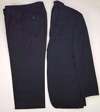 HUGO Boss SELECTION Suit 38R Black MENS Wool SIZE 3 Button SUPER 130s PORTMAN Sz