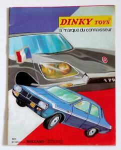 Francese DINKY Giocattoli (Catalogo 1971)