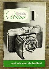 Kodak Caméra Mode D'emploi Rétine IB 1b user manual MODE D'EMPLOI (x7008