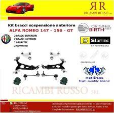 KIT BRACCI SOSPENSIONE ANTERIORI ORIGINAL ALFA ROMEO 147 156 GT (8 PEZZI).