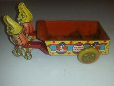 Wyandotte tin lithograph Easter Bunnies wagon