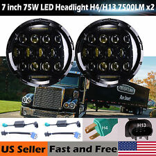 For Freightliner Coronado 7'' Round Truck LED Headlight DRL H4 H13 150W 2Pcs NEW
