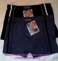 sousvêtement Pesail M lot 2 boxers homme garçon coton slip caleçon noir/bleu