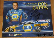 2014 Ron Capps signed Napa Dodge Charger Funny Car postcard