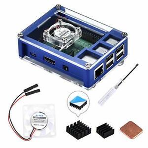 Boitier pour Raspberry Pi 3 Model B + 3B+ avec Ventilateur 3/2 3B Dissipateurs