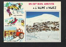 ALPE-D'HUEZ (38) ARRIVEE à la STATION humoristique animé