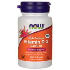 Now Foods, Vitamin D-3 2000 IU High Potency,  D3 2000IU 240 SoftGels