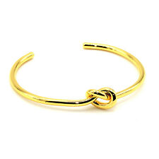 Circular Knot Cuff Bangle Bracelet (Gold)
