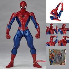 "6"" Marvel Figma Movable Spiderman Spider Man Figure Revoltech Kaiyodo No 002 Toy"