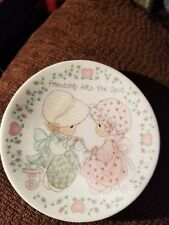 Precious Moments Plate Friendship hits the Spot 1992 Teatime Friends Tea Party