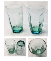 VINTAGE Libbey Drinking Glass Tumblers 12 oz. CHIVALRY GREEN 4-Piece Set