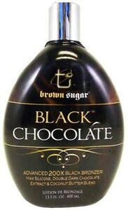 BLACK CHOCOLATE 200X Black Bronzer Tanning Lotion by Brown Sugar TAN INC 13.5 oz