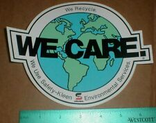 Safety Kleen environmental We Care NASCAR racing shop contingency sticker decal