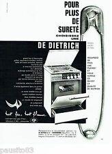 PUBLICITE ADVERTISING 106  1964  Cuisinière tous gaz De Dietrich