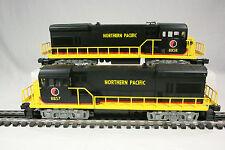 Lionel 8857, 8858 Northern Pacific U36B Diesels; Powered & Dummy - C10/Mint/NIB