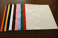 10 FOGLI PANNOLENCI feltro misura 30x30 cm spessore 1mm colori a scelta