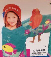 Kids Mermaid Hooded Towel Beach Pool Bath 26X45 Red Haired Mermaid Towel Summer