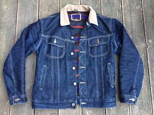 Lee Storm Rider Denim Blanket Lined Jacket Size S ~ Excellent Condition Unwashed