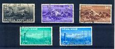 India 1953 Complete Year Unit Used Set Of 5 Stamps