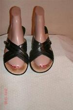 Sofft Black Leather Double Strap Sandals Shoes Shoe Size 8 M