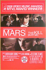 30 SECONDS TO MARS The Kill 2006 promo U.S. retailer promo POSTER 30STM - 11x17