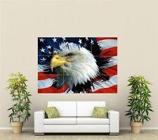 USA Flag Giant XL Section Wall Art Poster O105
