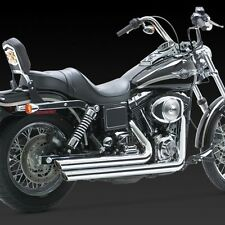 1991-2005 HARLEY DYNA Big Shots Staggered Chrome Exhaust (VANCE AND HINES 17911)