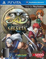 Ys: Memories of Celceta Sony PlayStation PS Vita Game+Case USA VERSION