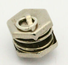 Vintage Sterling Silver/925 Articulated Spring Accordian Charm 1.6g