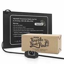 """New listing Reptile Heat Pad - Temperature Adjustable Under Tank Heater for 1 Pack-6"""" X 8"""""""