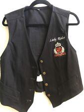 Women's Lady Driver Harley-Davidson Button black canvas vest size L Sewn