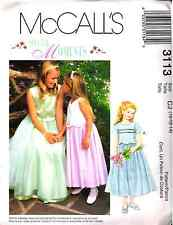 McCall's 3113  Wedding Special Moments Girls Dress Sewing Pattern Size10-12-14
