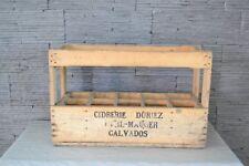 Ancienne en bois pour bouteilles Cidrerie DURIEZ MESNIL-MAUGER 1962 (Cavados)