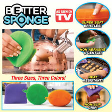 Better Silicone Sponge Dishwashing Mildew-Free Multipurpose Sponge Brush Cleaner